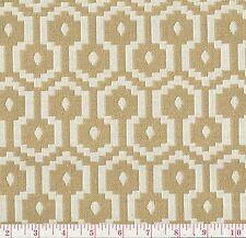 P Kaufmann Beige White Woven Upholstery Fabric Jamboree Acorn BTY