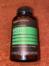 Amazon Elements  Men's One Daily Multivitamin 65 Tablets EXP 10/2021