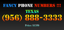 New listing Fancy Phone Numbers ! Texas (956) 888-3333
