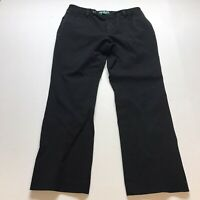 Lauren Ralph Lauren Adelle Cropped Pants In Black Size 12P Slimming A854