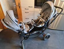 ABC Design Zoom Geschwisterwagen Mit Babywanne Und Adapter Für Cybex Babyschale