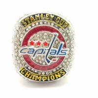 2018 Capitals OVECHKIN NHL Stanley Cup SP Brass Championship Ring & Wood Box