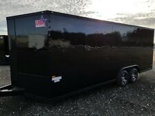 8.5x20 Enclosed Cargo Trailer BLACK OUT V NOSE 22 Car Hauler 22 18 2020