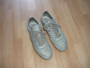 BIKKEMBERGS Sneaker Schuhe Halbschuhe grau, Leder Gr. 43
