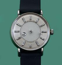 Vintage 1950s Diamond Mystery Dial Le Coultre Vacheron 14k Automatic Watch