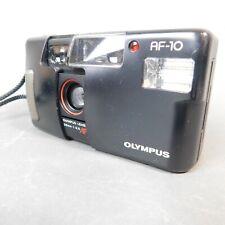 Olympus AF-10 35mm 1:3.5 Compact Film Camera in Black with Case AL/JP