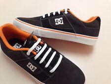 New mens DC Skate Shoes Bridge Black/grey/orange size 9.5
