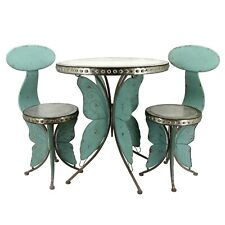 Old Style Galvanized Butterfly Bistro Set (1 Table, 2 Chairs)