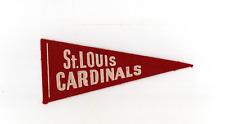 1950's Tom's Peanuts St. Louis Cardinals Mini Felt Pennant Ex+ T42
