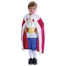 Toddlers King Costume With Red Cape - Toddler Fancy Dress Boys Years