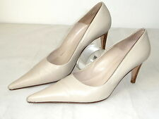 Gianni Versace 38,5 Leder Pumps Schuhe High heels nude Shoes Hautfarben Pump