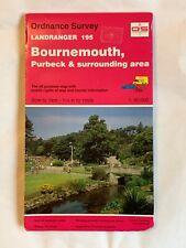 OS, Ordnance Survey Landranger map 195, Bournemouth