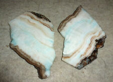 2 Small  Onyx Rock Slabs White with hint of Blue