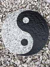 Trittstein Granit Yin Yang 30cm tolle Deko für Garten
