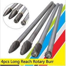 4 pcs Cemented Carbide Cutting Burr Bits Set Rotary 6mm Shank Metalworking Tool