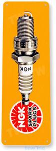 TIN SIGN NGK Spark Plugs Tin Metal Sign Auto Shop Garage Sign Decor B188