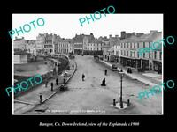OLD LARGE HISTORIC PHOTO OF BANGOR DOWN IRELAND, VIEW OF THE ESPLANADE c1900 2