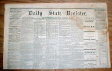 2 original 1868 newspapers DES MOINES STATE REGISTER Polk County IOWA 147 yr old