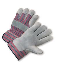 1 Dozen Split Cowhide Leather Work Gloves, Sizes Small-2XLarge