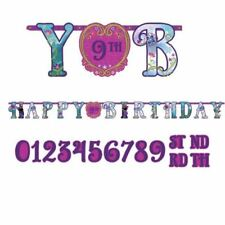 3.2m Disney's Frozen Add An Age Happy Birthday Party Letter Banner Decoration