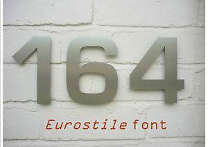 3 Chiffre Contemporain Acier Inoxydable Maison Chiffres - 15cm/15.2cm