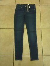 "H&M Super SKINNY Regular Jeans Size 10 L30"" Dark Denim Blue Wash"