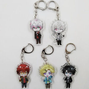 Anime Mystic Messenger Keychain Keyring Metel Pendants Costume Jewelry Acrylic