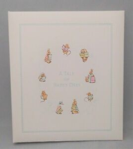 CR Gibson Beatrix Potter A TALE OF BABY'S DAYS Album Memory Book Peter Rabbit