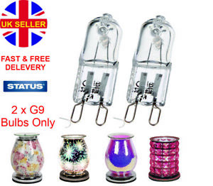 2x G9 28w Replacement Bulbs For Electric Wax Melt Burner & Aroma Lamp Status UK