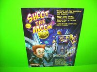 Namco SHOOT THE MOON Original 2006 Coin-Op Arcade Game Sales Flyer Space Age Art