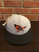 Vintage 80s 90s New Era Mlb Baseball Baltimore Orioles Wool Fitted Hat Sz 7