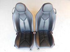 Mercedes Benz SLK 280 R171 2007 Manual Adjust Seats Pair Black Red Stitch J110