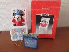 RARE VINTAGE Disney Schmid MICKEY MOUSE FANTASIA SORCERER'S APPRENTICE MUSIC BOX