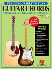 Teach Yourself To Play Guitar Chords Quick & Easy Introduction Book NEW!