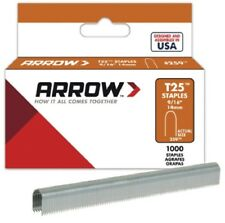 "Arrow T25 ROUND Crown Staples Dimensioni: 9/16"" - Confezione da 14 MM: 1000"