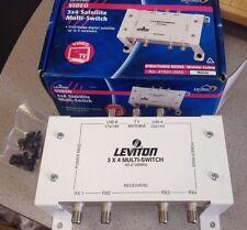 Leviton # 47691-3MS 3x4 Satellite Video Multi-Switch UpTo 4 Receiver Output Digi