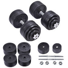 Goplus 200 LB Weight Dumbbell Set Adjustable Cap Gym Barbell Plates Body Workout