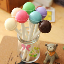 8Pcs Fashion LOVELY Colorful Lollipop Ball Pen Office School Supply Stationery