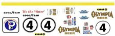#4 HERCHEL McGRIFF OLYMPIA BEER 1/25th - 1/24th Scale Waterslide Decals