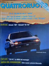 Quattroruote 409 1989 Nuova gamma Alfa 33. Top Car: la BMW. Fiat Tipo 16 vv Q.60
