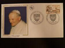 FRANCE PREMIER JOUR FDC N° 2418   PAPE JEAN PAUL II  1,80F  PARAY LE MONIAL 1986
