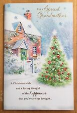 "9/""x6/"" Glitter /'For You Sister/' Clintons Christmas Card Xmas"