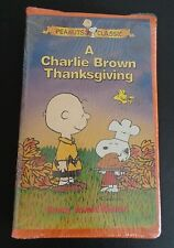 A Charlie Brown Thanksgiving (VHS, 1999, Clamshell) NEW Free Shipping SEALED