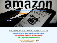 AMAZON AFFILIATE WEBSITE BUSINESS FOR SALE - FULLY STOCKED - MILLIONS OF ITEMS!