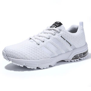 Mens Breathable Golf Shoes Air Mesh Outdoor Sneakers Comfortable Lace up Men