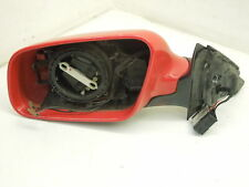 Audi A4 B5 .5 FL NS Left Door Mirror Mechanism and Red Housing Cover