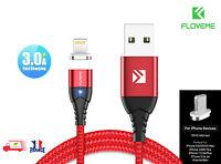 USB Câble Charge rapide De Données magnétique à LED pour iOS iPhone 11, X, 8, 1M