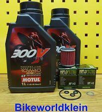 YAMAHA WR 450F 09-14 2l ACEITE + 2 Filtro de Motul 300v 10w40 MOTOR JUNTAS