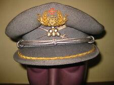 ANTIQUE PORTUGAL PORTUGUESE MILITARY COLONEL SUPPLIES UNIFORM HAT CAP 1960