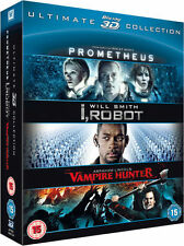 Prometheus + I, Robot + A. Lincoln Vampire Hunter All 3D Blu-ray Collection *NEW